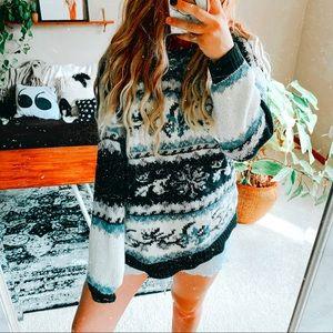 Aztec boheme cozy daze oversized fall sweater p1